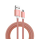 cheap Phone Cables & Adapters-Micro USB Quick Charge Cable Samsung / Huawei / Nokia for 100 cm For Stainless steel