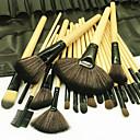 preiswerte Make-up & Nagelpflege-24 Stück Makeup Bürsten Professional Bürsten-Satz- Kunstfaser Pinsel / Nylon Pinsel Umweltfreundlich / Professionell / Weich Holz / Bambus
