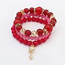 cheap Necklaces-Women's Stack Strand Bracelet - Vintage, Fashion Bracelet Red / Blue / Light Blue For Wedding Daily / 3pcs