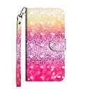 رخيصةأون أغطية أيفون-غطاء من أجل Apple iPhone X / iPhone 8 Plus / iPhone 8 محفظة / حامل البطاقات / مع حامل غطاء كامل للجسم لون متغاير قاسي جلد PU