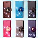 Недорогие Чехлы и кейсы для Galaxy S5 Mini-Кейс для Назначение SSamsung Galaxy S7 edge / S7 / S5 Mini Кошелек / Бумажник для карт / Стразы Чехол Однотонный / Цветы Твердый Кожа PU