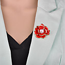 cheap Brooches-Women's 3D Brooches - Imitation Pearl Flower Vintage, European Brooch Black / Red For Evening Party / Office & Career
