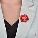 hesapli Saat Aksesuarları-Kadın's 3D Broşlar - İmitasyon İnci Çiçek Vintage, Avrupa Broş Siyah / Kırmzı Uyumluluk Gece Partisi / Ofis ve Kariyer