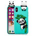 hesapli iPhone Kılıfları-Pouzdro Uyumluluk Apple iPhone X / iPhone 8 Plus Kendin-Yap Arka Kapak Panda Yumuşak TPU için iPhone X / iPhone 8 Plus / iPhone 8