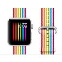 رخيصةأون أساور ساعات هواتف أبل-حزام إلى أبل ووتش سلسلة 5/4/3/2/1 Apple بكلة عصرية نايلون شريط المعصم