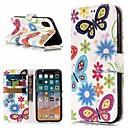 hesapli Banyo Gereçleri-Pouzdro Uyumluluk Apple iPhone X / iPhone 8 Plus Cüzdan / Kart Tutucu / Satandlı Tam Kaplama Kılıf Kelebek Sert PU Deri için iPhone X / iPhone 8 Plus / iPhone 8