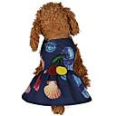 ieftine Audio & Video-Câini Pisici Rochii Îmbrăcăminte Câini Floral / Botanic Imprimeu reactiv Flori Albastru Închis Roz Terilenă Costume Pentru Dalmațian Beagle Pechinez Vară Femeie O piesă Rochii & Fuste