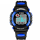 cheap Men's Watches-SYNOKE Men's Sport Watch Digital Watch Digital 30 m Water Resistant / Water Proof Calendar / date / day Chronograph PU Band Digital Fashion Black - Yellow Red Blue / Dual Time Zones / Noctilucent