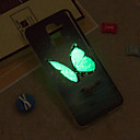 cheap Galaxy J Series Cases / Covers-Case For Samsung Galaxy iPhone X / iPhone 8 Plus / J6 Glow in the Dark / IMD / Pattern Back Cover Butterfly Soft TPU for J8 / J7 (2017) / J7 (2016)