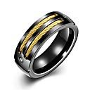 preiswerte Ringe-Herrn Vintage Stil Bandring - vergoldet, Rostfrei Kreativ Einzigartiges Design, Retro 8 / 9 Schwarz Für Alltag Arbeit