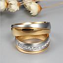 Χαμηλού Κόστους Δαχτυλίδια-Για Ζευγάρια Cubic Zirconia Δαχτυλίδια Ζευγαριού - Μοντέρνα, Κομψό 6 / 7 / 8 Χρυσό Για Γάμου / Αρραβώνας / Γαμήλια Τελετή
