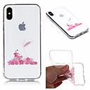 رخيصةأون أغطية أيفون-غطاء من أجل Apple iPhone X / iPhone 8 Plus / iPhone 8 IMD / شفاف / نموذج غطاء خلفي حيوان / زهور ناعم TPU