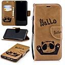 رخيصةأون أغطية أيفون-غطاء من أجل Samsung Galaxy S9 / S9 Plus / S8 Plus محفظة / حامل البطاقات / مع حامل غطاء كامل للجسم باندا قاسي جلد PU