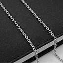 זול שרשרת אופנתית-בגדי ריקוד גברים שרשרת גדיל יחיד שרשרת מרינר ארופאי פלדת טיטניום כסף 55 cm שרשראות תכשיטים 1pc עבור יומי