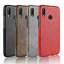 olcso Samsung képernyővédők-Case Kompatibilitás Huawei P20 Pro / P20 lite Jeges Fekete tok Egyszínű Kemény PU bőr mert Huawei P20 / Huawei P20 Pro / Huawei P20 lite