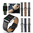 저렴한 애플 시계 밴드-시계 밴드 용 Apple Watch Series 3 / 2 / 1 Apple 스포츠 밴드 천연 가죽 손목 스트랩