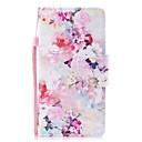 رخيصةأون أغطية أيفون-غطاء من أجل Apple iPhone 8 / iPhone 7 محفظة / حامل البطاقات / قلب غطاء كامل للجسم زهور قاسي جلد PU