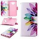 رخيصةأون إكسسوارات سامسونج-غطاء من أجل Samsung Galaxy Note 5 / Note 4 / Note 3 محفظة / حامل البطاقات / مع حامل غطاء كامل للجسم زهور قاسي جلد PU