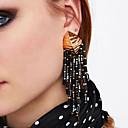 preiswerte Halsketten-Damen Quaste Tropfen-Ohrringe - damas, Quaste, Europäisch, Modisch Rosa / Hellbraun / Königsblau Für Party / Abend Arbeit