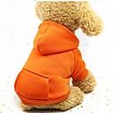 Недорогие Одежда и аксессуары для собак-Собаки / Коты / Маленькие зверьки Толстовки / Толстовка / Инвентарь Одежда для собак Однотонный Кофейный / Красный / Розовый Хлопок Костюм Для домашних животных Мужской