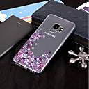 abordables Protectores de Pantalla para Tableta-Funda Para Samsung Galaxy S9 Plus / S9 IMD / Transparente / Diseños Funda Trasera Flor Suave TPU para S9 / S9 Plus / S8 Plus