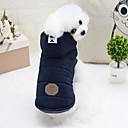 preiswerte Bekleidung & Accessoires für Hunde-Nagetiere / Hunde / Hasen Daunenjacken Hundekleidung Solide Grau / Hellblau Baumwolle Kostüm Für Haustiere Weiblich Modisch / Euramerican