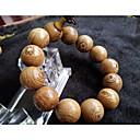 זול טבעות-בגדי ריקוד גברים קלאסי חרוזים צמיד חרוזים צמידים וינטג עץ דְלַעַת מסוגנן וינטאג' אתני צמידים תכשיטים צהוב בהיר עבור טקס פֶסטִיבָל