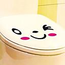 זול גאדג'טים לחדר האמבטיה-מדבקות וקלטות / מושב לאסלה סרט מצויר / יצירתי סרט מצוייר / מודרני / עכשווי PVC 1pc - מראה / ניקוי עיטור אמבטיה