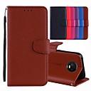 ieftine Colier la Modă-Maska Pentru Motorola MOTO G6 / Moto G6 Plus / Moto G5 Titluar Card / Cu Stand / Întoarce Carcasă Telefon Mată Greu PU piele / Moto G4 Plus