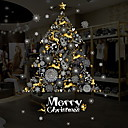 levne iPhone pouzdra-Okenní film a samolepky Dekorace Vánoce Prázdninový PVC Lesk / Nálepka na okna / Hala / Obchod s kávou / kavárna