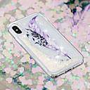 رخيصةأون أغطية أيفون-غطاء من أجل Apple iPhone X / iPhone 8 Plus / iPhone 8 سائل متدفق / شفاف / نموذج غطاء خلفي الريش ناعم TPU