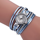 cheap Women's Watches-Women's Bracelet Watch Quartz New Design Casual Watch Imitation Diamond PU Band Analog Casual Fashion Black / White / Blue - Purple Green Blue One Year Battery Life