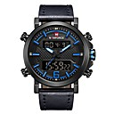 cheap Smartwatches-NAVIFORCE Men's Sport Watch Military Watch Japanese Japanese Quartz 30 m Water Resistant / Water Proof Alarm Calendar / date / day Genuine Leather Band Analog Digital Luxury Fashion Black / Brown -
