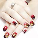 ieftine Machiaj & Îngrijire Unghii-12 pcs MetalPistol Strălucire Nail Art Kit Bijuterie unghii Pentru deget nail art pedichiura si manichiura Zilnic Punk / Nuntă / Modă / Unghiul de bijuterii