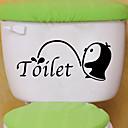رخيصةأون ملصقات ديكور-لواصق المرحاض - ملصقات الحائط الحيوان حيوانات غرفة الجلوس / غرفة النوم / دورة المياه