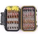 ieftine Ecrane Protecție Tabletă-40 pcs Muște Δόλωμα seturi Muște Pene Crom Confecționat Manual Lumină și convenabilă Uşor de Folosit Plutire Scufundare Pescuit mare Pescuit cu Muscă Aruncare Momeală / pescuit de Crap