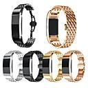 Χαμηλού Κόστους Λουράκια καρπού για Fitbit-Παρακολουθήστε Band για Fitbit Charge 2 Fitbit Αθλητικό Μπρασελέ Ανοξείδωτο Ατσάλι / Κεραμικό Λουράκι Καρπού