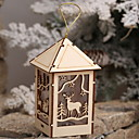 cheap Home Decoration-Christmas Ornaments Holiday Wooden House Shaped Novelty Christmas Decoration