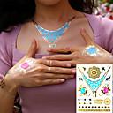 voordelige Magneetspeelgoed-3 pcs Metallic Tijdelijke tatoeages Bloemen Series / Romantische serie Milieuvriendelijk / Nieuw Design Lichaamskunst Klankkast / arm / pols / Metallic sieraden tatoeages