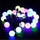 preiswerte LED Lichtstreifen-5m 20 LED Weihnachten Halloween dekorative Leuchten festlichen Streifenlichter-großen Perlen rosa Licht (220V)