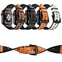 voordelige Apple Watch-hoesjes-Horlogeband voor Apple Watch Series 4/3/2/1 Apple Leren lus Echt leer Polsband