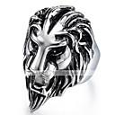 ieftine Inele-Bărbați Stil Vintage #D Gravat Band Ring Inel de declarație Oțel titan Leu Vintage Punk Inele la Modă Bijuterii Negru Pentru Halloween Zilnic Stradă 9 / 10
