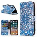 رخيصةأون أغطية أيفون-غطاء من أجل Apple iPhone XS / iPhone XR / iPhone XS Max محفظة / حامل البطاقات / مع حامل غطاء كامل للجسم زهور قاسي جلد PU