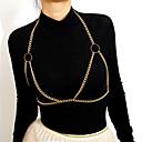 ieftine Tratamente de Fereastră-Pentru femei Bijuterii de corp 50 cm Corp lanț / burtă lanț Auriu / Argintiu femei / Tropical / Hiperbolă Articole de ceramică / Fier Costum de bijuterii Pentru aleasă a inimii / Bikini Vară