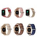 رخيصةأون أساور ساعات هواتف أبل-حزام إلى أبل ووتش سلسلة 5/4/3/2/1 Apple عقدة جلدية جلد طبيعي شريط المعصم