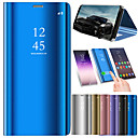 cheap Galaxy S Series Cases / Covers-Case For Samsung Galaxy J8 / J7 Duo / J7 with Stand / Plating / Mirror Full Body Cases Solid Colored Hard PU Leather