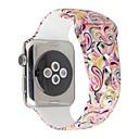 hesapli Kadın Saatleri-Watch Band için Apple Watch Series 4/3/2/1 Apple Spor Bantları Silikon Bilek Askısı