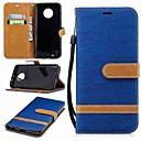 رخيصةأون Motorola أغطية / كفرات-غطاء من أجل موتورولا MOTO G6 / موتو G5 زائد / موتو G5 محفظة / حامل البطاقات / مع حامل غطاء كامل للجسم لون سادة قاسي منسوجات / Moto G4 Plus