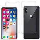 hesapli iPhone SE/5s/5c/5 İçin Ekran Koruyucular-Ekran Koruyucu için Apple iPhone XS Temperli Cam 2 adets Ön ve Arka Koruyucu Yüksek Tanımlama (HD) / 9H Sertlik / 2.5D Kavisli Kenar