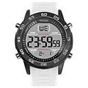 Χαμηλού Κόστους Ανδρικά ρολόγια-SMAEL Ανδρικά Αθλητικό Ρολόι Ψηφιακό ρολόι Ιαπωνικά Ψηφιακό σιλικόνη Μαύρο / Λευκή 50 m Ανθεκτικό στο Νερό Ημερολόγιο Νυχτερινή λάμψη Ψηφιακό Μοντέρνα - Μαύρο Μαύρο / Λευκό
